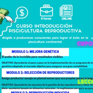 curso introducción piscicultura reproductiva